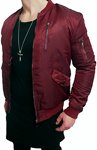 Giacca Bomber Nero e Khaki Bomber giacca basic - Giacca da pilota aviatore Giacca Black Biker Motorrad Designer Blouson Sweat Wendejacke Men Leather Jacket Steppjacke trapuntato Deep Black Slim Fit nuovo new Rot xxl