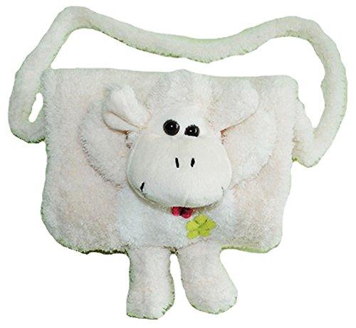 alles-meine.de GmbH weicher Muff -  Schaf in weiß  - mit extra Tasche - für warme Hände - Kinder Kindermuff - Tiere - zum Umhängen - für Mädchen und Jungen / wie Handschuh / Ha..