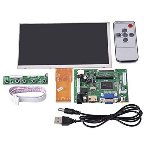 Biback 1024 x 600 7 Zoll LCD-Display + HDMI VGA 2 AV Kartenleser Split Display für Mobile DVD, Digitaler Bilderrahmen