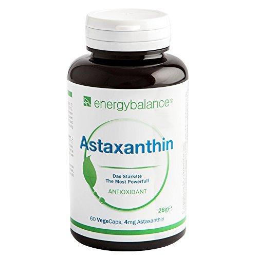 Astaxanthin | Haematococcus-Alge | mit Lutein, Beta-Carotin, Betacyanine und Bio-Vitamin E | Vegan | Antioxidant | Natürlich 4mg | Keine Konservierungsstoffe | 60 VegeCaps