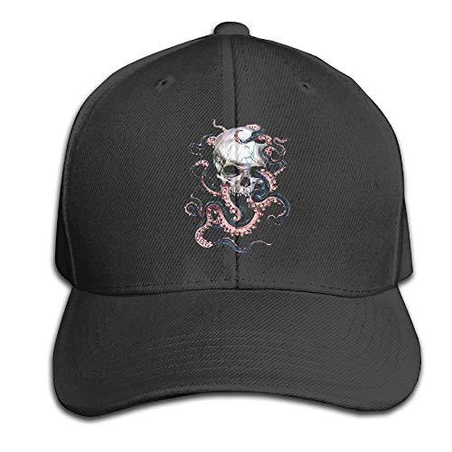 Mama Baseball Jersey (Kotdeqay Skull and Octopus Adjustable Baseball Caps Unstructured Papa Hut 100% Cotton Ash 32193)