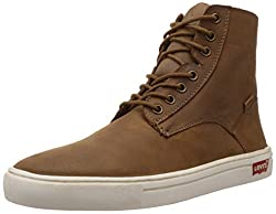 Levis Mens Diamond Bar Brown Leather Boots - 8 UK/India (42 EU)