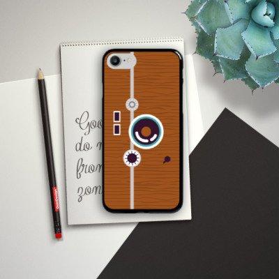 Apple iPhone X Silikon Hülle Case Schutzhülle Foto Retro Fotograf Hard Case schwarz