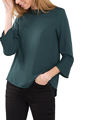 ESPRIT 116EE1F030, Camicia Donna, Verde (Bottle Green), 44