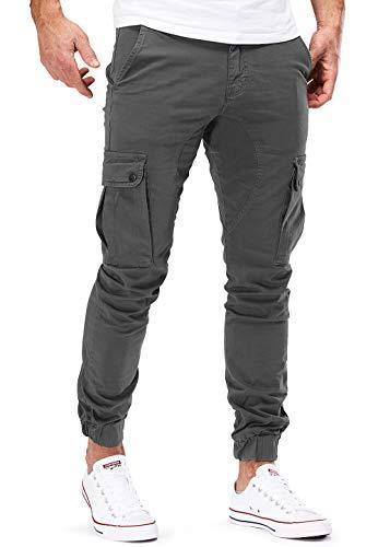 MERISH Chino Herren Slim Fit Cargohose Jogger Designer Hose 404 (31, 404 Grau) - China Männer