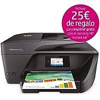 HP OfficeJet Pro 6960 - Impresora multifunción (tinta color, WiFi, fax, copiar, escanear, impresión a doble cara, 600 x 1200 ppp, incluido 3 meses de HP Instant Ink) color negro