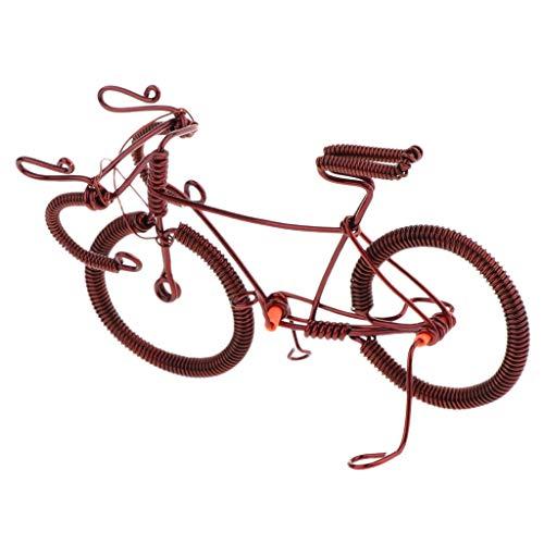 F Fityle 1:10 Handgefertigt Deko Fahrrad Mini Rennrad aus Kupfer für Geldgeschenke
