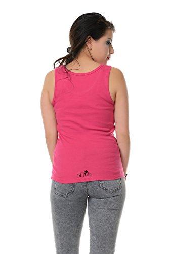Girocollo Allentato Casuale Canotte Senza Maniche Serbatoio Migliori Camicie stampa foresta dea - Donna, da 3Elfen Rosa