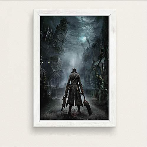 rne Game Hunter Hot Video Spiel Kunst Malerei Seide Leinwand Poster Wand Wohnkultur 40 * 60 cm Kein Rahmen ()