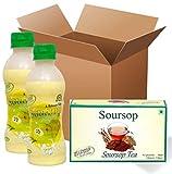 Pack of 2 (2 Soursop Juice Bottles + 1 Tea Box)