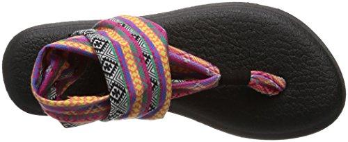 2 Tribal Sanuk Yoga Multi Prints Mehrfarbig Stripes Magenta Donna Sling Infradito qqPnFrzE4