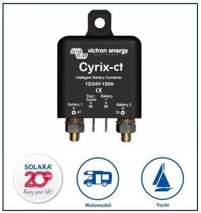 Premium Victron Cyrix-ct 12/24V-120A intelligenter Batteriekoppler