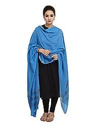 Shingora Blue Zari Striped Dupatta For Women