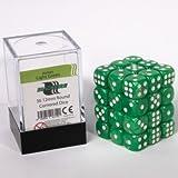 ADC Blackfire Entertainment 91719D6Cube dice set, marmorizzato verde chiaro, 36x 12mm