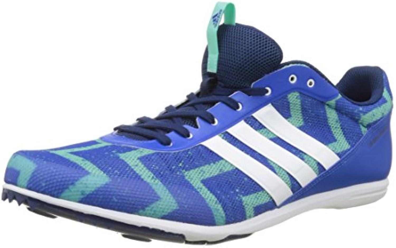 Adidas Distancestar, Zapatillas de Atletismo para Hombre, Multicolor (Blue/FTWR White/Easy Green S17), 42 2/3 EU
