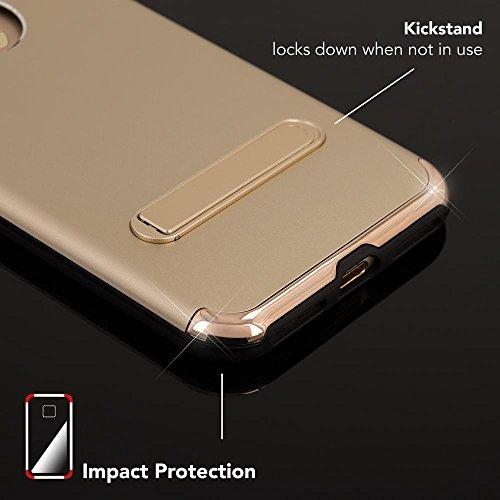 iPhone 8 / 7 Ständer Hülle von NICA, Stoßfeste Dünne Schutzhülle Hard-Case mit Standfunktion Handy-Tasche, Ultra-Slim Back-Cover Etui Matt Bumper für Apple iPhone 7 / 8 Smartphone, Farbe:Schwarz Gold