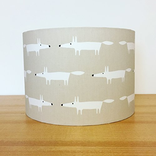 handmade-20cm-fabric-lampshade-featuring-little-fox-by-scion-uk-snow-fox-for-table-floor-lamp