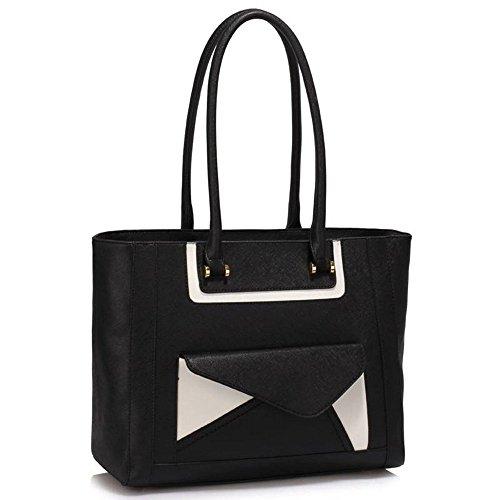 TrendStar Damen-Modedesigner -Qualität Taschen Frauen Trendy Hot Selling Handtaschen Große Schultertasche . Schwarz