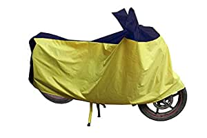 Water Proof Bike Body Cover for All Two Wheelers Universal Bike Cover(with Mirror Pockets) (Gold & Black)