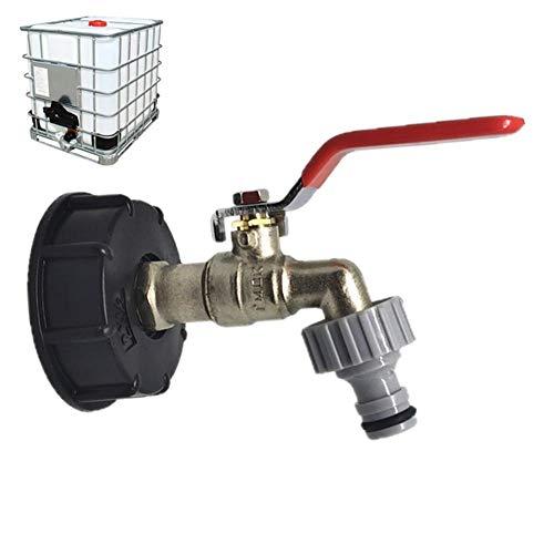 "smileyshy Wasserhahn-Verbindungsstück-Zusätze, IBC-Koffer-Nahrungsmittelgrad-Abfluss-Adapter 1/2\""Garten-Schlauch-Hahn-Wassertank-Schlauch-Verbindungsstück-Wiedereinbau"