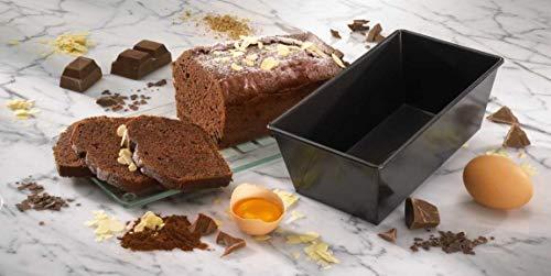 Dr. Oetker Kastenform 20 cm, Königskuchenform mit Antihaftbeschichtung, hochwertige Form, eckige Kuchenform (Farbe: schwarz), Menge: 1 Stück