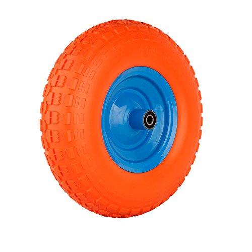 Preisvergleich Produktbild Forever Speed Schubkarren PU Max.200kg Traglast Ø336mm Vollgummi Reifen /4.00-6 Reifenbreite 90mmNabenlänge 100mmAchsbohrung 12mm Orange (1 PCS)