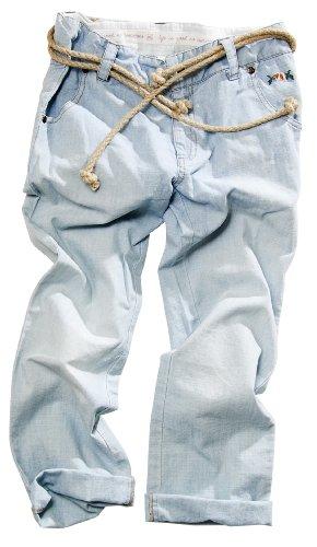 bloomingdale-leichte-baumwollhose-in-jeans-optik-hellblau