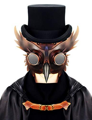 Kostüm Frauen Beängstigend Teufel - Horror Halloween, Steampunk Scharfen Mund Beängstigend Cosplay Zombie Teufel Pest Maskerade Party Kostüm Maske,A115