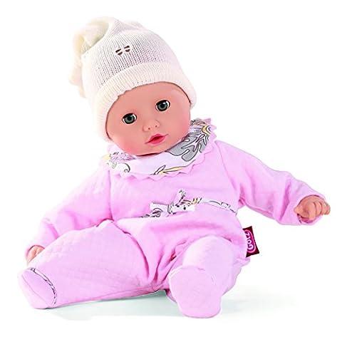 Götz 1320588 Muffin Traumblume - 33 cm große Weichkörperpuppe mit blauen Schlafaugen und ohne Haare - 4-teiliges Set bestehend aus der Bekleidung und dem Schnuller - geeignet für Kinder ab 18 Monaten