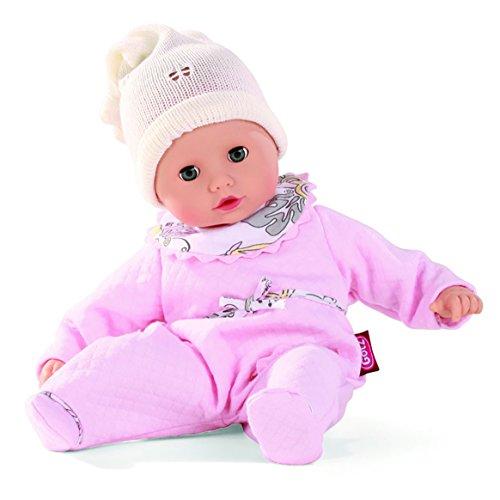 Götz 1320588 Muffin Traumblume Puppe - 33 cm Babypuppe mit blauen Schlafaugen, ohne Haare und Weichkörper - 4-teiliges Set - ab 18 Monaten