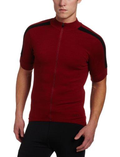 Ibex Outdoor Bekleidung Herren giro FZ Short Sleeve Jersey, Herren, Tri-Red (Ibex-wolle-jersey)