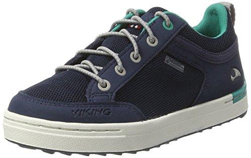 Viking - Sogn Gtx, Scarpe sportive outdoor Unisex – Bambini Blau (Navy/Green)