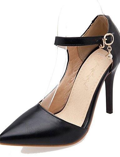 WSS 2016 Chaussures Femme-Habillé-Noir / Rouge / Blanc-Talon Aiguille-Talons / Bout Pointu-Talons-Similicuir red-us5 / eu35 / uk3 / cn34