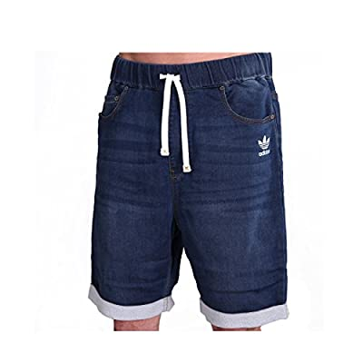 adidas French Terry Denim Shorts Medium Blue Denim