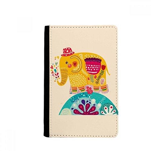 beatChong Rojo Nación Sombrero Elefante Rosa Colorido Titular del Pasaporte Monedero Tarjeta De Caso De La Cubierta Cartera De Viaje
