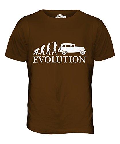 CandyMix Macchina Vintage Evoluzione Umana T-Shirt da Uomo Maglietta Marrone