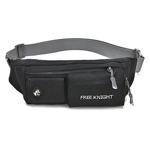 Wewod Herren/Damen Sports Wasserdicht Bauchtasche Einfarbige Gürteltasche 4 Pockets Belt Bag Freizeit Hüfttasche