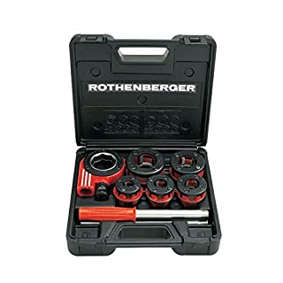 Rothenberger Ratschen Gewindeschneidkluppen Super Cut Set, Durchmesser 3/8-1,1/4 Zoll, 1 Stück, 070790X