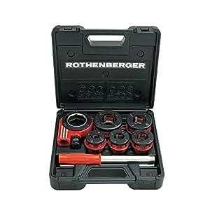 """Rothenberger 7.0781X Super Cut Cages de filière à cliquet 1/2-1,1/4"""", Argent/Rouge"""