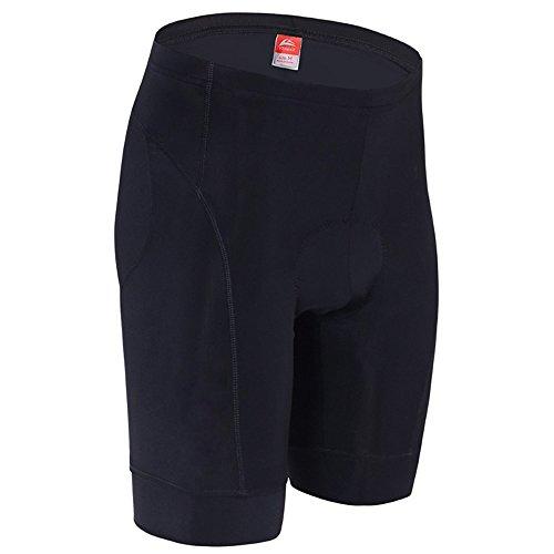 ALLY 3D Profesional Hombres Moldeado Acolchado Anti-Bac Ciclismo Culottes con Aire de Alta Permeabilidad - M/L/XL/XXL/XXXL opcional (Negro/Negro, M 30