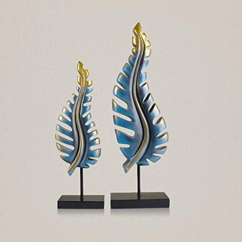 WOAINI Künstlerische handgemachte hölzerne Blatt-Skulptur ein Symbol des Friedens und der Harmonie für Raumdekoration Handcrafted Kunst-Skulptur für Wohnzimmerflur-Gast-Raum-Konsolentisch-Inneneinrich -