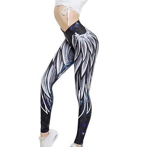 wenyujh Femmes Leggings Pantalon de Sport Imprimé Motif Nid d abeille Fashion  Pantalon Stretch Collant 637e117bca7