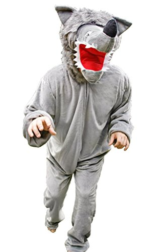 Kostüm Wolf Männer - Wolf-Kostüm, F49/00 Gr. XL, Für hochgewachsene Männer und Frauen, Wolfs-Kostüme Wölfe Kostüme Wolf-Faschingskostüm, Fasching Karneval, Faschings-Kostüme, Geburtstags-Geschenk Erwachsene