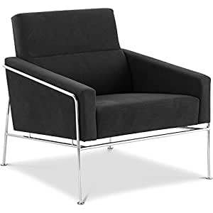 Fauteuil de salon design 3300 Easy Chair -style Arne Jacobsen - Tissu Noir
