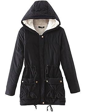 Mujer Abrigo Casual Cárdigan Con Capucha Grueso Cálida Chaqueta de Capa Jacket Parka