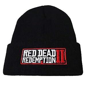 LJA Spiel Red Dead Redemption 2 Winter Warm Gestickte Strickmütze Junge Mädchen Pullover Rap Caps Hip-Hop Strickmütze Kinder