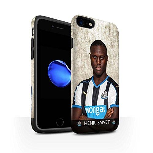 Offiziell Newcastle United FC Hülle / Matte Harten Stoßfest Case für Apple iPhone 7 / De Jong Muster / NUFC Fussballspieler 15/16 Kollektion Saivet