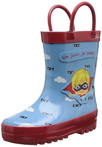 Be OnlyUn Jour Je Serai Héros - Stivali da Pioggia Bambino , blu (Blu (Bleu)), 23 EU
