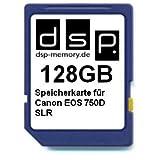 DSP Memory Z-4051557430570 128GB Speicherkarte für Canon EOS 750D SLR