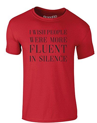 Brand88 - Fluent in Silence, Erwachsene Gedrucktes T-Shirt Rote/Schwarz